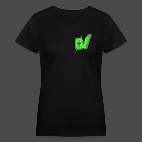 O Slash Men's T-Shirt - Women's V-Neck T-Shirt