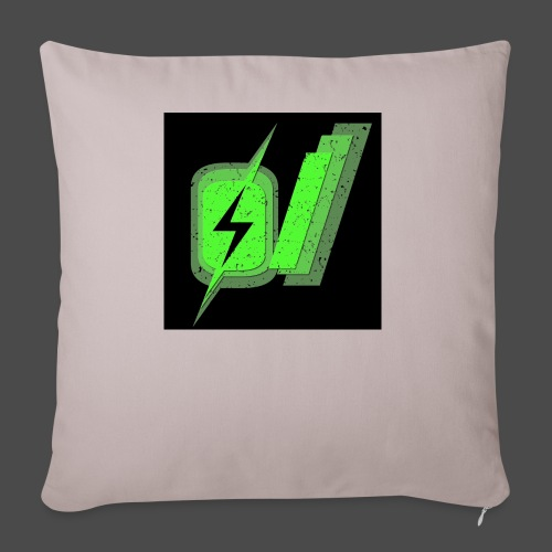 """O Slash Small Buttons (5 Pack) - Throw Pillow Cover 18"""" x 18"""""""