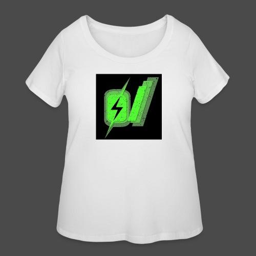 O Slash Small Buttons (5 Pack) - Women's Curvy T-Shirt