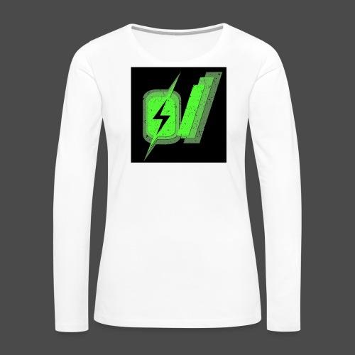 O Slash Small Buttons (5 Pack) - Women's Premium Long Sleeve T-Shirt