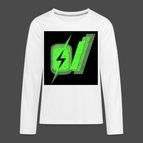 O Slash Small Buttons (5 Pack) - Kids' Premium Long Sleeve T-Shirt