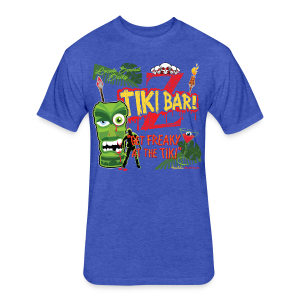 Z Tiki Bar - Fitted Cotton/Poly T-Shirt by Next Level