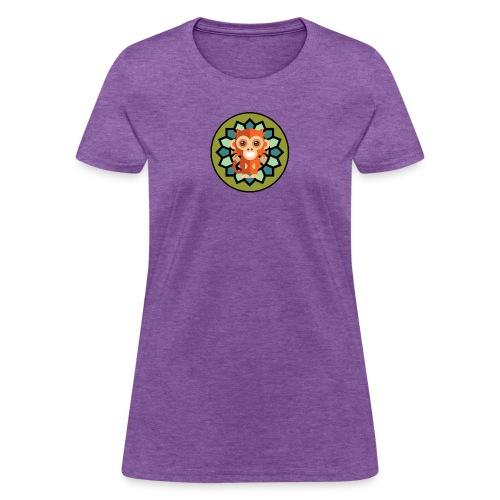 Monkey & Flower Women's V-Neck Tri-Blend Ringer T-Shirt - Women's T-Shirt