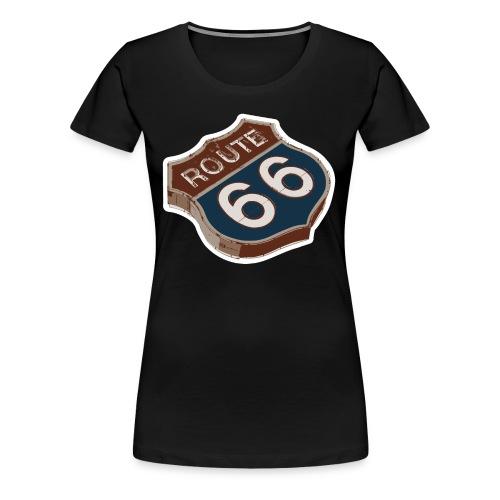 Route 66 Retro Highway Sign - Women's Premium T-Shirt