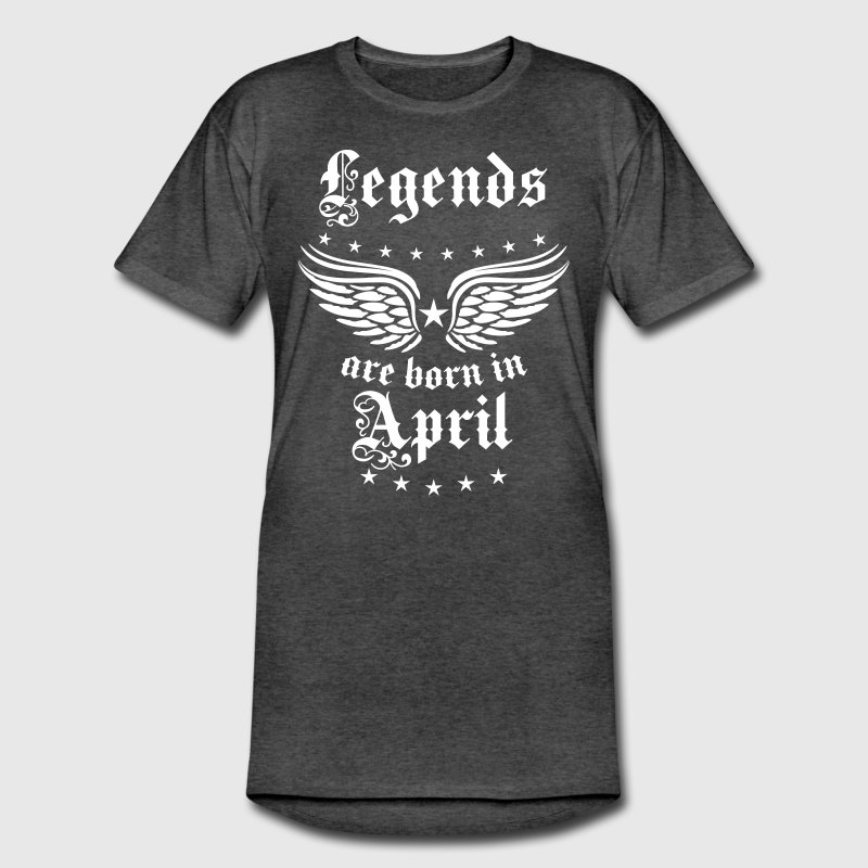 Legends are born in April birthday Cool T-Shirt - Men's Long Body Urban Tee