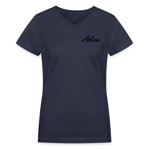 Women's Vintage Sport Shirt  (dark) - Women's V-Neck T-Shirt