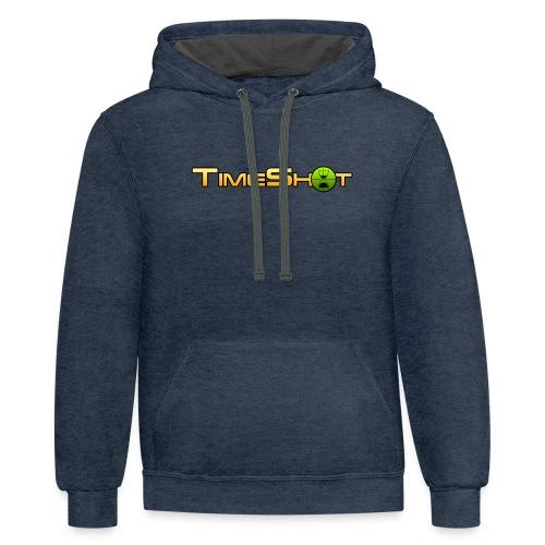 TimeShot Logo - Contrast Hoodie