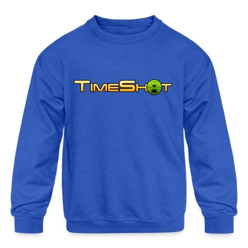 TimeShot Logo - Kids' Crewneck Sweatshirt