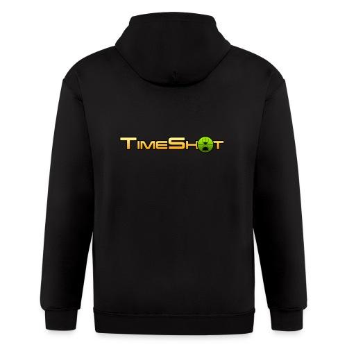 TimeShot Logo - Men's Zip Hoodie