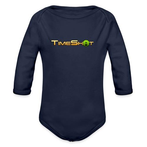 TimeShot Logo - Organic Long Sleeve Baby Bodysuit