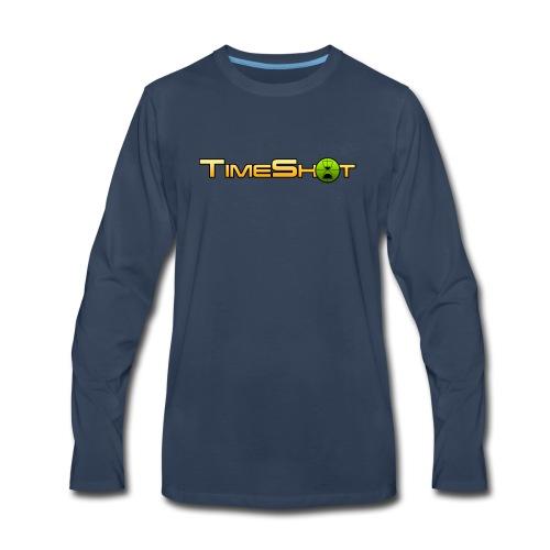 TimeShot Logo - Men's Premium Long Sleeve T-Shirt