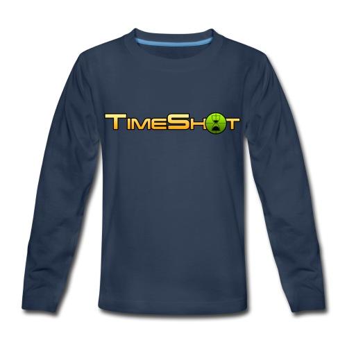 TimeShot Logo - Kids' Premium Long Sleeve T-Shirt