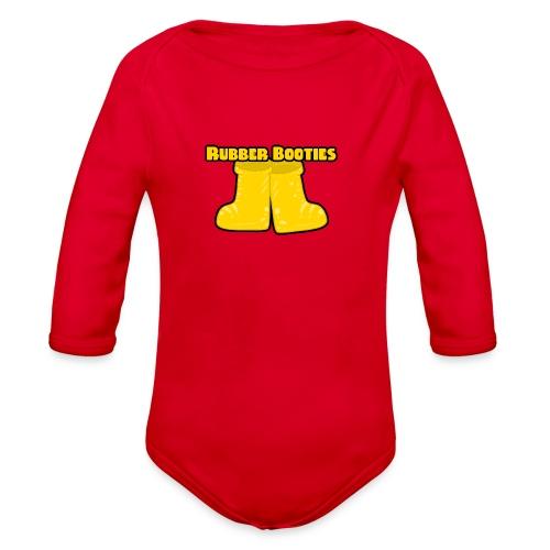 Rubber Booties - Organic Long Sleeve Baby Bodysuit
