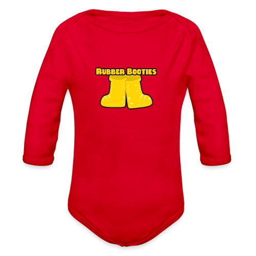 Rubber Booties - Organic Long Sleeve Baby Bodysuit