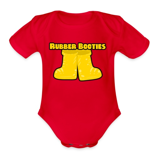 Rubber Booties - Organic Short Sleeve Baby Bodysuit