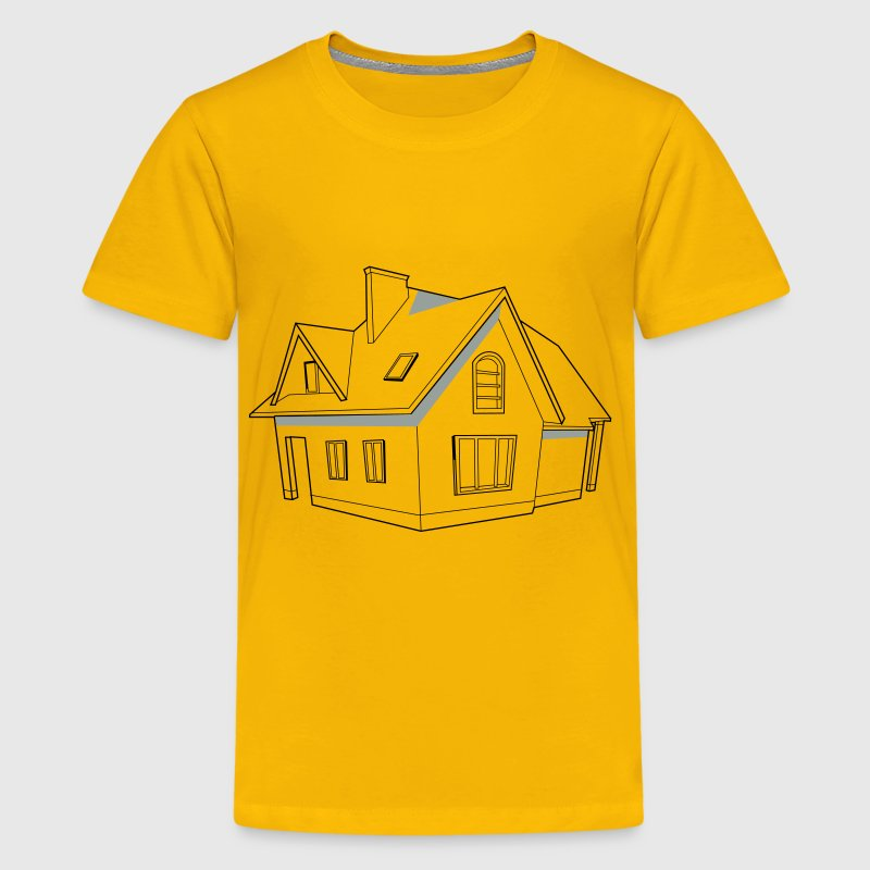 Modern house svg image for Videoscribe - Kids' Premium T-Shirt