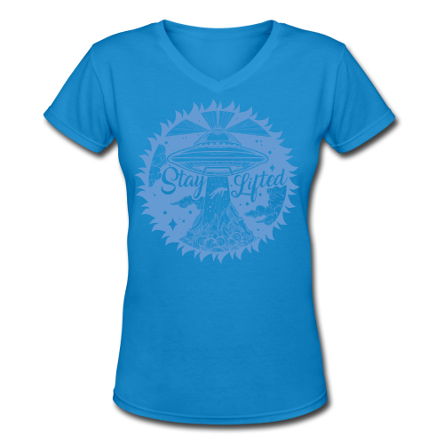 Stay Lifted - Women's V-Neck T-Shirt