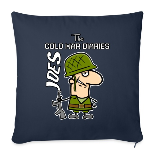"Joes: The Cold War Diaries - Throw Pillow Cover 18"" x 18"""