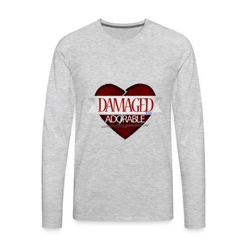 Damaged Hoodie - Men's Premium Long Sleeve T-Shirt