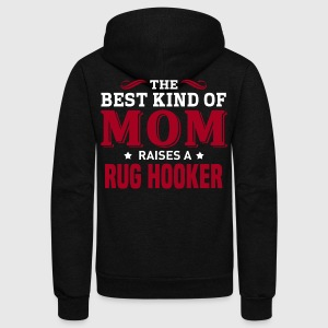 Rug Hooker MOM - Unisex Fleece Zip Hoodie by American Apparel