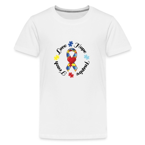 Autism Awareness Button - Kids' Premium T-Shirt