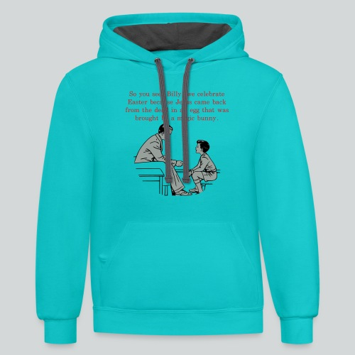 Billy's Easter Lesson - Contrast Hoodie