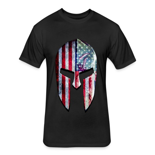 SpartanFlag Helmet Girls Tank - Fitted Cotton/Poly T-Shirt by Next Level