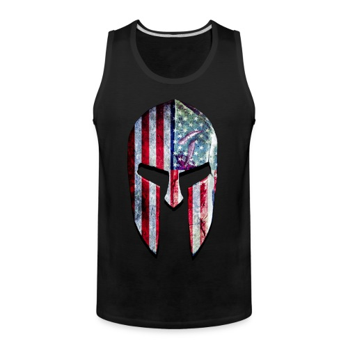SpartanFlag Helmet Girls Tank - Men's Premium Tank