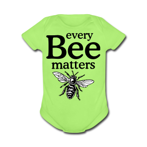 Every Bee matters T-Shirt - Short Sleeve Baby Bodysuit