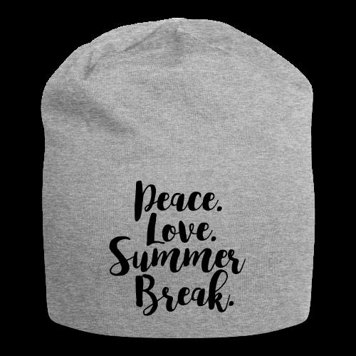 Peace. Love. Summer Break. - Jersey Beanie