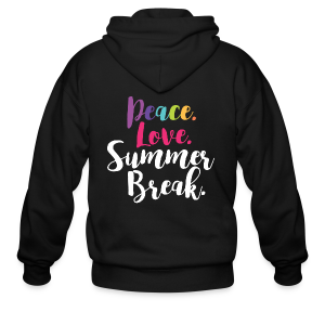 Peace. Love. Summer Break. - Men's Zip Hoodie