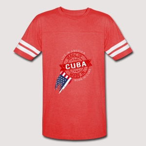 I was born cuba live in usa - Vintage Sport T-Shirt
