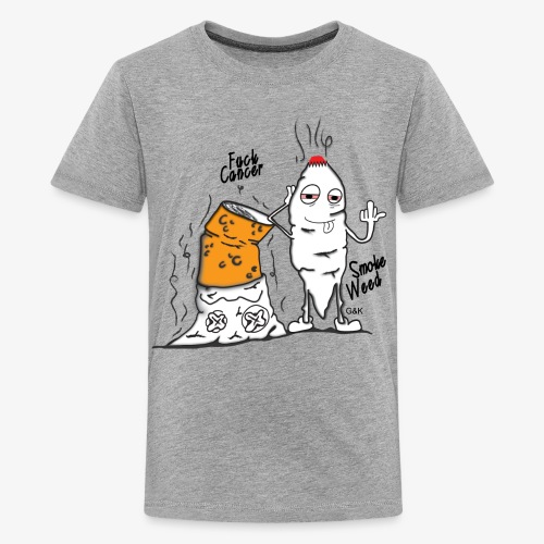 Fuck Cancer , Smoke Weed Tee - Kids' Premium T-Shirt