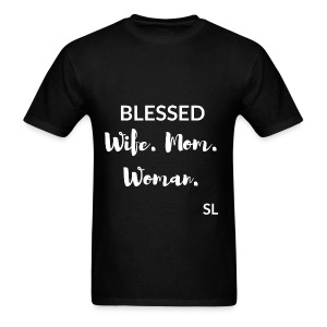 BLESSED Wife Mom Woman T shirt by Stephanie Lahart. - Men's T-Shirt
