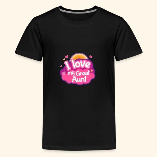 I Love My Great Aunt Baby Shirt - Kids' Premium T-Shirt