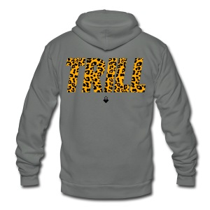 TRILL Crewneck - Mens - BrandNuThreads.com - Unisex Fleece Zip Hoodie by American Apparel