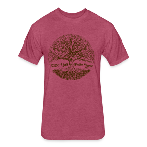 Roots - Fitted Cotton/Poly T-Shirt by Next Level