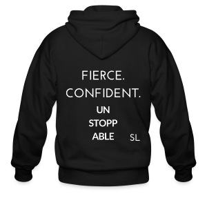Women's Fierce Confident Unstoppable t shirt by Stephanie Lahart. - Men's Zip Hoodie