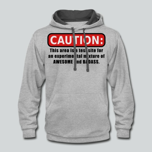Awesome and Badass - Contrast Hoodie
