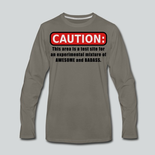 Awesome and Badass - Men's Premium Long Sleeve T-Shirt