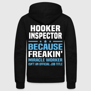 Hooker Inspector - Unisex Fleece Zip Hoodie by American Apparel