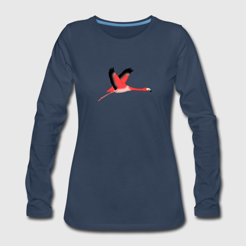 Flamingo fly Long Sleeve Shirts - Women's Premium Long Sleeve T-Shirt