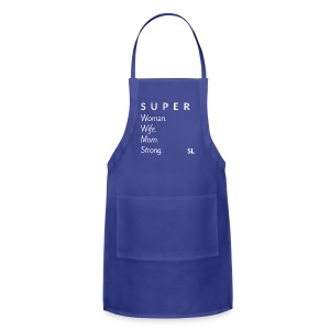 SUPER Woman Wife Mom Strong T shirt by Stephanie Lahart. - Adjustable Apron