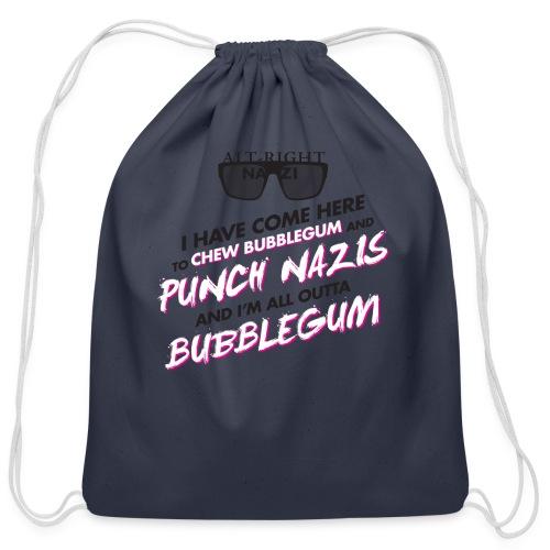 Punch Nazis Fuck Trump - Cotton Drawstring Bag