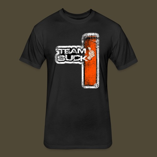 Team Suck Front And Back  - Fitted Cotton/Poly T-Shirt by Next Level