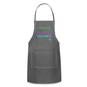 CREATIVE. ARTISTIC. VISIONARY. T shirt by Stephanie Lahart. - Adjustable Apron