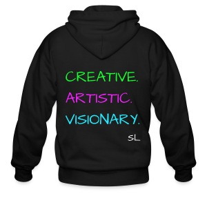 CREATIVE. ARTISTIC. VISIONARY. T shirt by Stephanie Lahart. - Men's Zip Hoodie