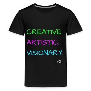 CREATIVE. ARTISTIC. VISIONARY. T shirt by Stephanie Lahart. - Kids' Premium T-Shirt
