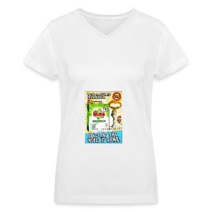 NUKE Apron - Women's V-Neck T-Shirt