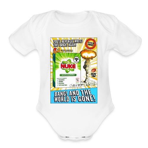 NUKE Apron - Organic Short Sleeve Baby Bodysuit